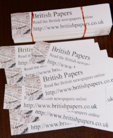 Bookmarks advertising http://www.britishpapers.co.uk/