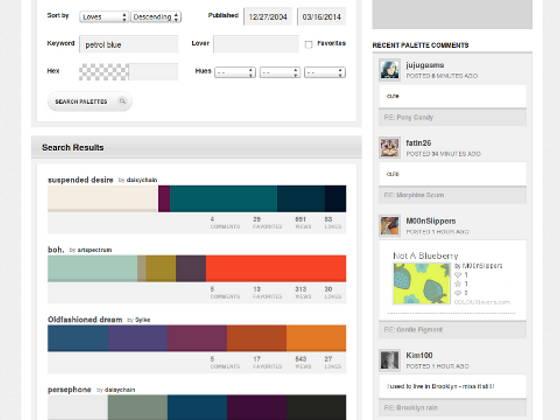 Screenshot of COLOURlovers.com
