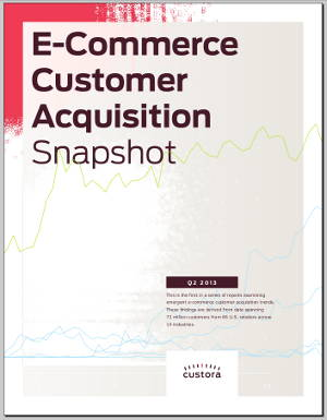 Custora's E-Commerce Customer Acquisition Snapshot, 2013Q2
