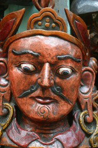 Nepali wooden demon mask