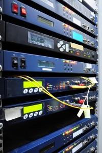 Web servers in a rack
